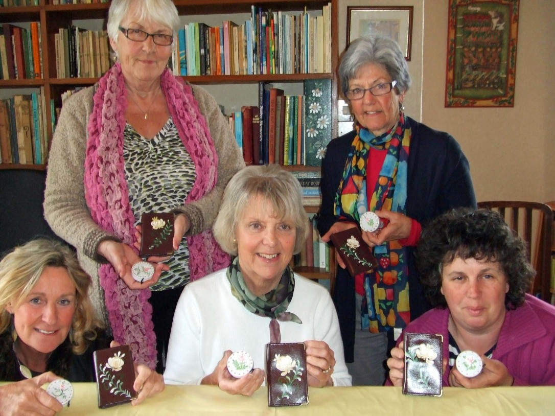 Niamh, Irene, Lis, Shirley and Sue show off their work