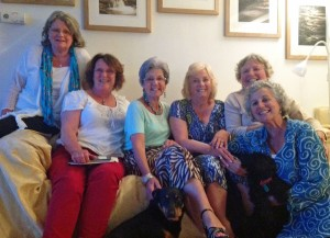 Hilda, Hilary, Shirley, Pat, Gill and Jane