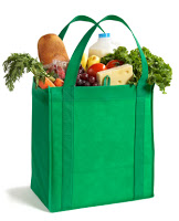 groceries in a bag