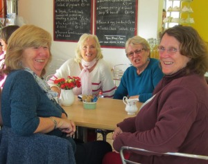 Sally, Pat, Val and Hilary
