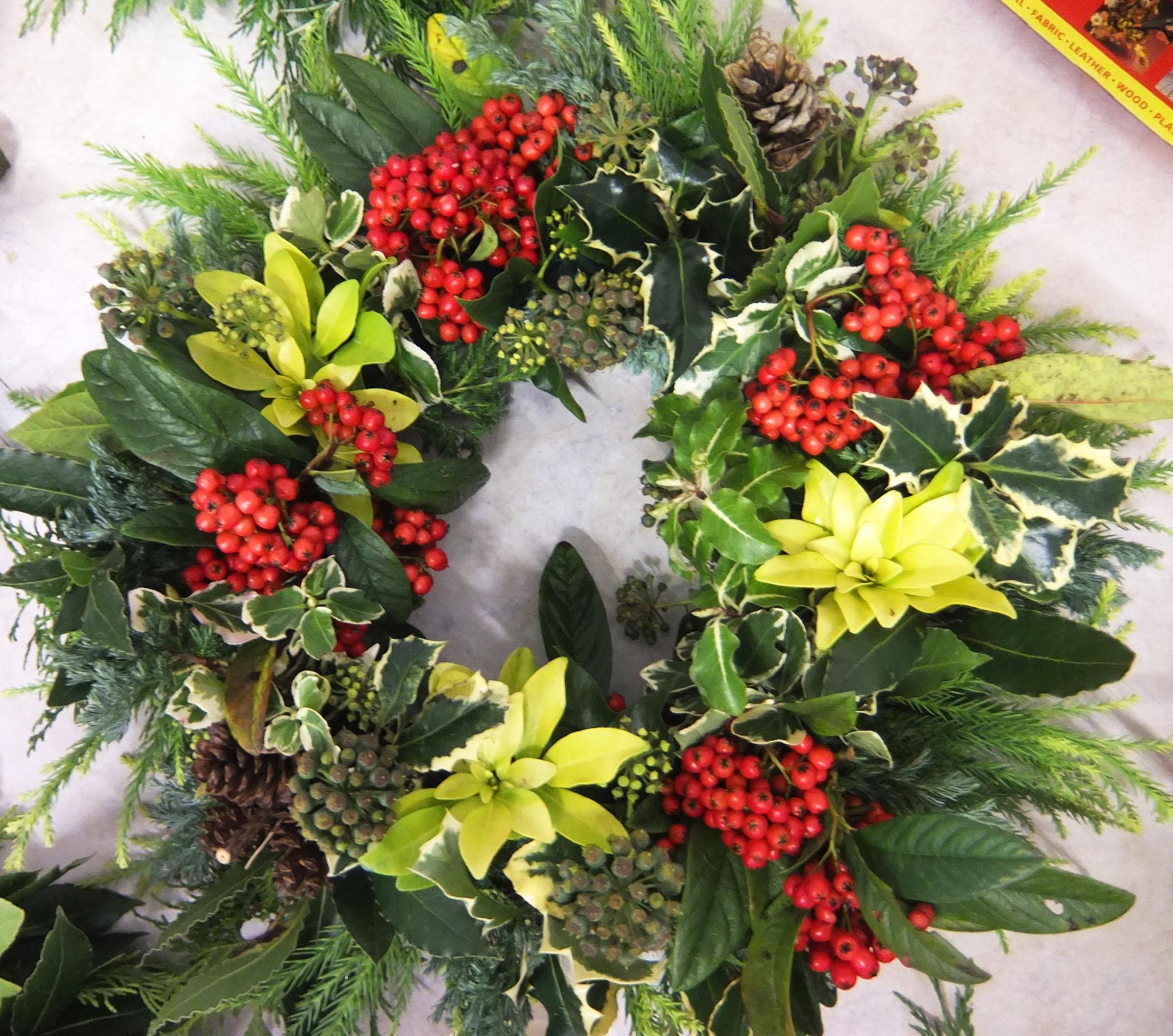 christmas wreaths and more crowlas u0026 ludgvan w i