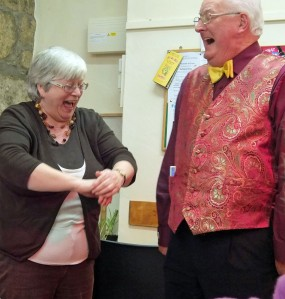 Kathy and magician Philip Southwood