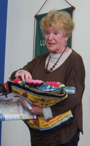 Hazel Brown shows off some of our Rag Dolls' beautiful work