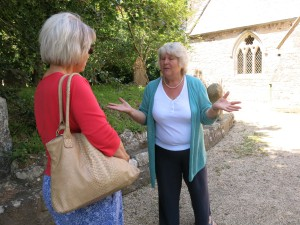Lis Davies and tour guide Carrie Baker