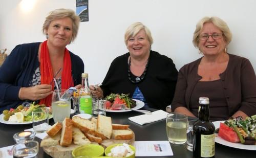 Gail Allen, Kathy Merrett and Val Puddiphatt