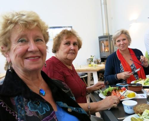Janet Harrison, Pamela Roebuck and Gail Allen