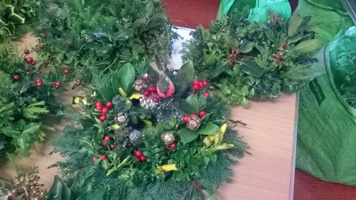 Wreath-making with Shirley_December 2014