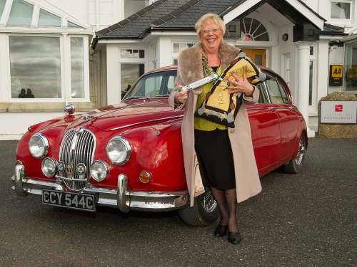 CFWI Federation Chairman Barbara Corbett arrives at Land's End with the Centenary Baton (005) Photo by Peter Puddiphatt