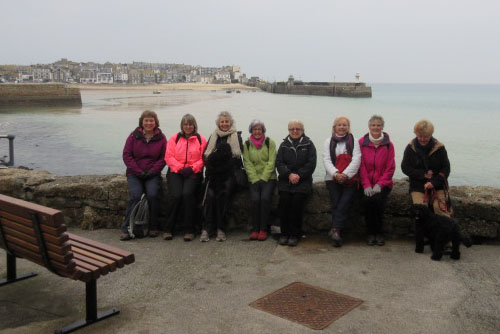 Julie, Mary, Jane, Shirley, Val, Pat, Liz and Hazel,  along with doggie guests Ruby and Norman