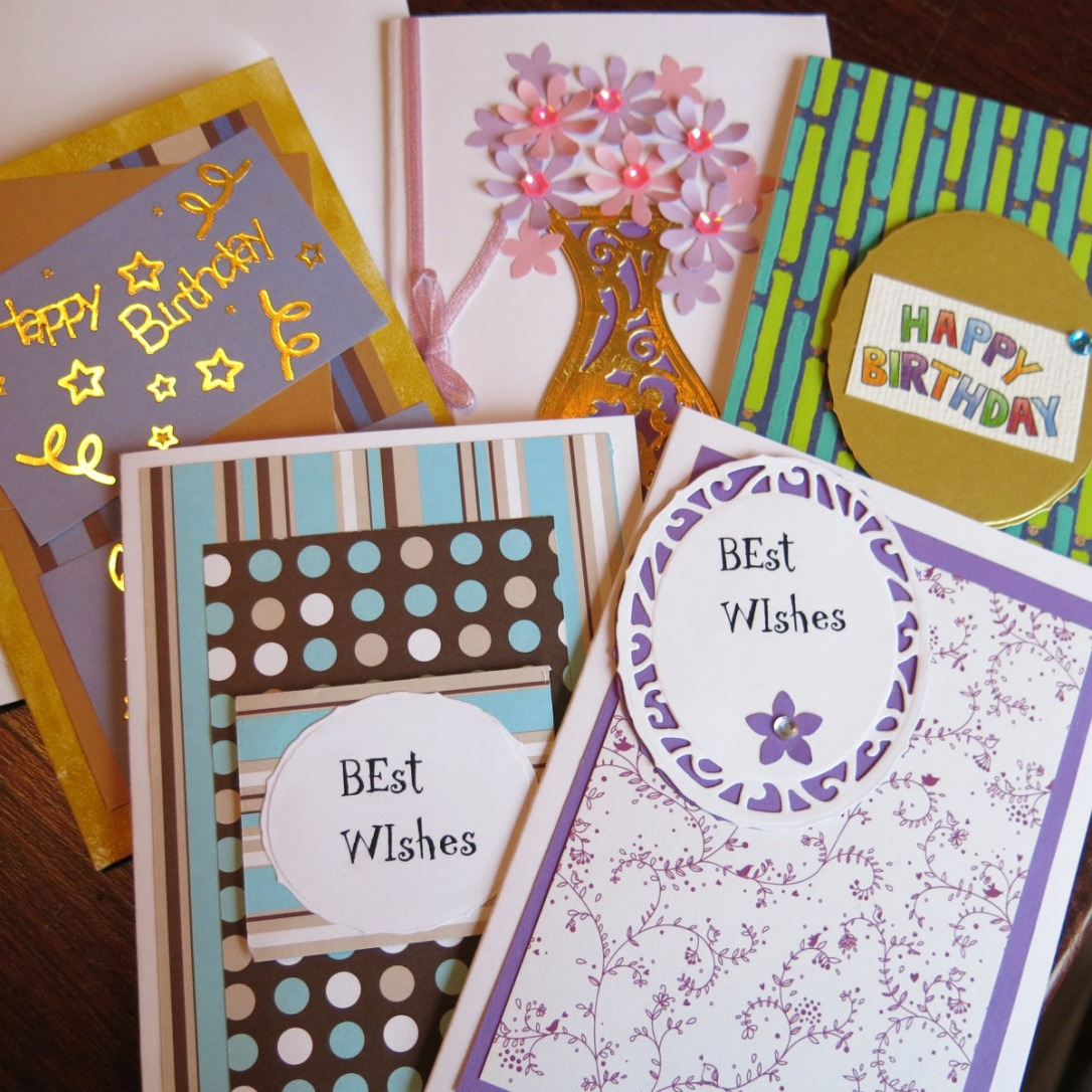 A sampling of the beautiful cards we made