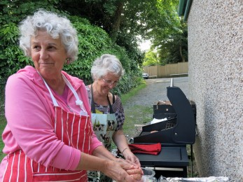 Jane and Di manned the barbecue with great skill.