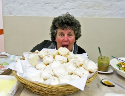 Sue can't get enough of those meringues!