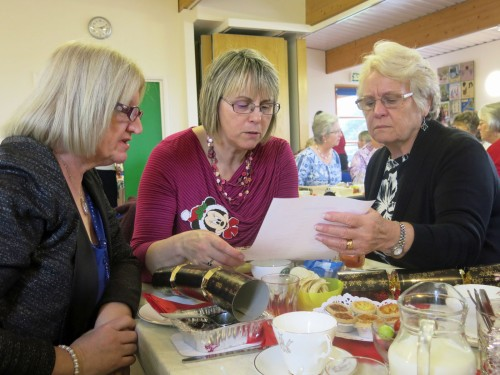 Sue, Mary and Val were very serious about their quiz.