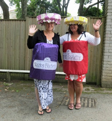 Gail and Helen drum up business
