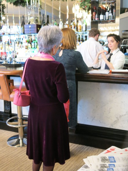 There's always a queue at the bar when the WI goes out for a meal!
