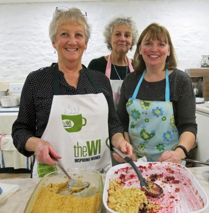 Di, Jane and Lisa serve up crumbles with a smile